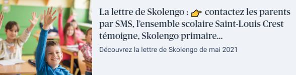 newsletter lettre de skolengo mai 2021